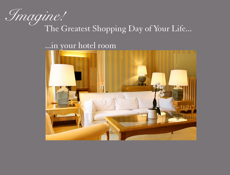 Shop in your hotel  room